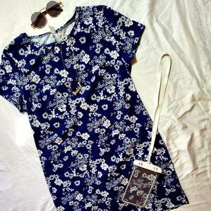 Floral tshirt dress